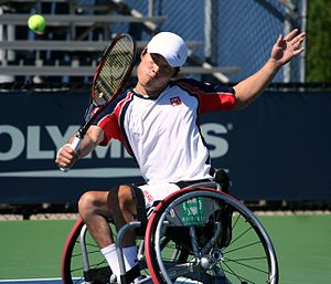 Shingo Kunieda - Kunieda at the 2011 US Open, New York.