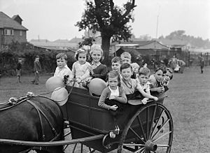 Governess cart - A children's party in 1950