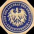 Siegelmarke Der Königliche Landrat des Kreises - Grevenbroich W0216214.jpg