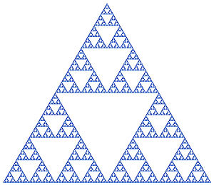 Similarity (geometry) - Image: Sierpinski triangle (blue)