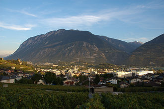 Sierre - Panoramic view of Sierre.