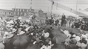 Arthur Sifton - Sifton addressing a political meeting in Wetaskiwin, August 1910
