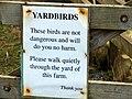 Sign at Dent Head Farm - geograph.org.uk - 275753.jpg