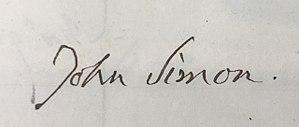 John Simon (pathologist) - Image: Signature John Simon 1842, Royal Medical Chirurgical Society Obligation Book 1805