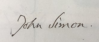 John Simon (pathologist) - Image: Signature John Simon 1842, Royal Medical Chirurgical Society Obligation Book 1805