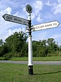 Signpost at the Beufre Junction, Beaulieu, New Forest - geograph.org.uk - 36413.jpg