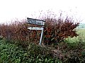 Signpost on Chickering Road (geograph 5223708).jpg