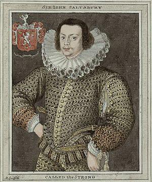 John Salusbury (poet) - An 18th-century copy of a portrait of Sir John Salusbury