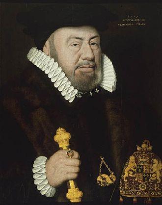 Nicholas Bacon (Lord Keeper) - Sir Nicholas Bacon by an unknown artist, 1579