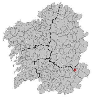 Larouco - Image: Situacion Larouco