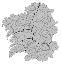 Situation of Pontecesures within Galicia