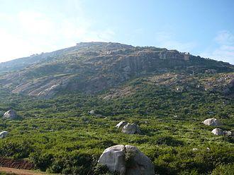 Skandagiri - View of Skandagiri Betta From Below the mountain