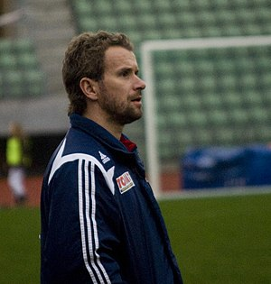 Football player - Image: Skeid coach Arild Stavrum (3408841026)