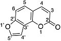 Skeletal structure of angelicin with numbering.jpg
