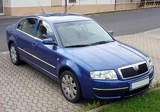 Škoda Superb - Image: Skoda Superb blau