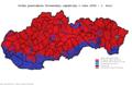 Slovensko prezidentské voľby 2009 1. kolo obce.png