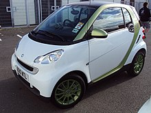 2011 smart ed2 frontal view