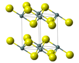 Ball-and-stick model of tin(IV) sulfide