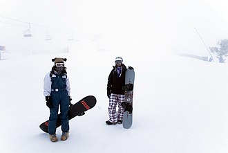 Sierra de Javalambre - Snowboarders in Javalambre