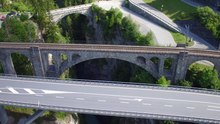 Datei:Solis Viaduct, Schinschlucht and Solis dam, aerial video.webm
