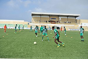 Somalia national football team - The national team doing drills as part of preparations for the 2018 FIFA World Cup qualifiers