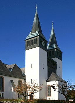 Catholic church of St. Anna in Somborn that is part of the community Freigericht