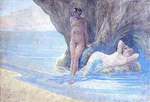 David Henry Souter - Image: Souter, David Henry Mermaid with Companion (1907)