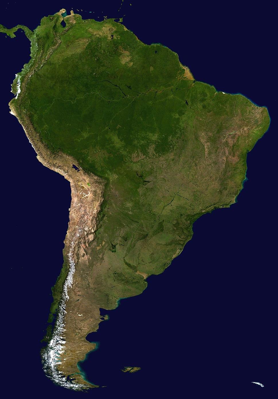 South America satellite plane