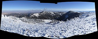 South Baldy (New Mexico) - The eastern view from the summit of South Baldy.