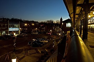 South Orange, New Jersey - Part of the village as viewed from the South Orange station platform
