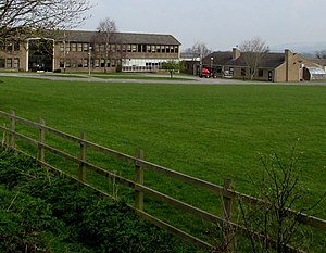 Winchcombe School - View of the south side of the school, looking over the playing field
