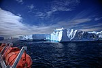 Spectacular Christmas morning cruise through the remants of giant Tabular iceberg B15Y, which is now grounded just off Bransfield Island at the N tip of the Antarctic Peninsula. (25974288646).jpg