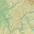 Spessart (Relief und Gewässer) - Deutsche Mittelgebirge, Serie A-de.png