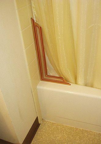 Shower splash guard - Shower Splash Guard Installed