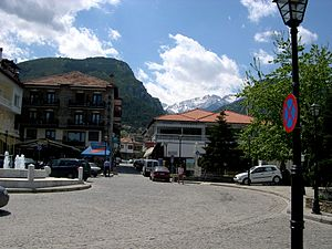 Litochoro - View of the central square.