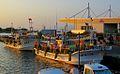 Squid fishing boats moored at Hakodate Bay (7662428950).jpg