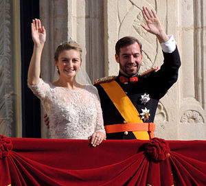 Wedding of Guillaume, Hereditary Grand Duke of Luxembourg, and Countess Stéphanie de Lannoy - Guillaume, Hereditary Grand Duke of Luxembourg, and Countess Stéphanie de Lannoy on their wedding day.