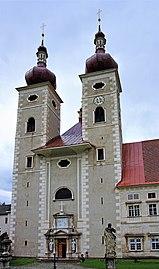 St.Lambrecht Stiftskirche Westfassade.jpg