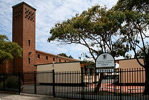 Croydon Park, New South Wales - St. Francis Xavier's Catholic Primary School (with the church tower on the left).