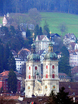 St. Gallen - The Abbey Cathedral of StGall and the old city