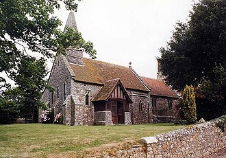 Manor of Dyrham - Church of St John the Baptist, Yaverland, Isle of Wight, probably built by the de Aula family, c. 1150. The Russell family held the advowson of this church, and established a chantry