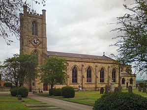 Listed buildings in Farnworth - Image: St John the Evangelist's Church, Farnworth