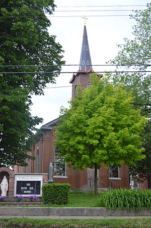National Register of Historic Places listings in Calhoun County, Illinois - Image: St Mary's Church, Brussels