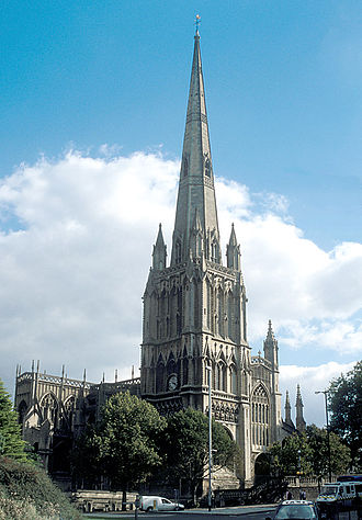 """Grade I listed buildings in Bristol - St Mary Redcliffe is the tallest building in Bristol. The church was described by Queen Elizabeth I as """"the fairest, goodliest, and most famous parish church in England."""","""