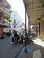 St Peter and Royal Street New Orleans 28th Jan 2019 Eight Dice Cloth Band Back.jpg