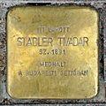Stadler Tivadar stolperstein (Budapest-07 Erzsébet krt 9-11).jpg