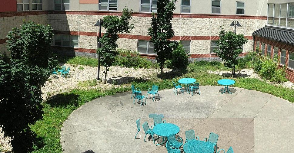 Staff courtyard, Montgomery Blair High School
