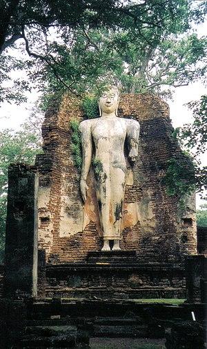 Kamphaeng Phet Historical Park - Image: Standing Buddha Wat Phra Si Iriyabot