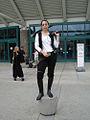 Star Wars Celebration IV - A female Han Solo guards the entrance (4878286441).jpg