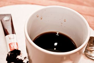 Instant coffee - A cup of Starbucks instant coffee